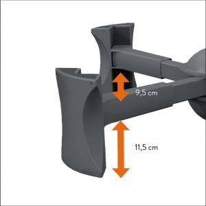 Stoelverhoger verschillende hoogtes instellen
